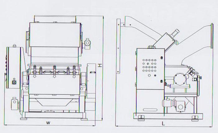 RG-2880 plastic film granulator